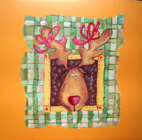 peinture décorative sur la boîte